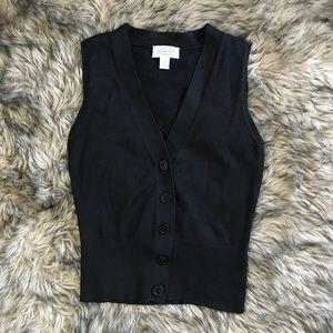 Talbots black cotton vest